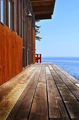Cedar Photograph - The View by Matthew Blum