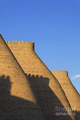 The Walls Of The Ark At Bukhara In Uzbekistan Art Print by Robert Preston