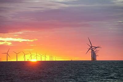 The Walney Offshore Windfarm Art Print by Ashley Cooper