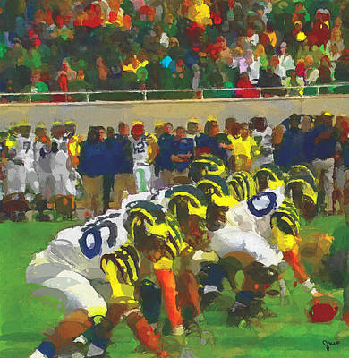 University Of Michigan Wall Art - Painting - The War by John Farr