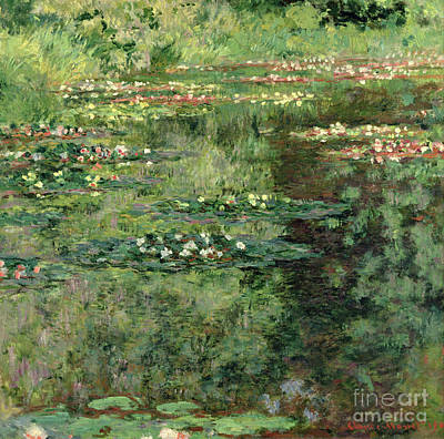 Sensitive Painting - The Waterlily Pond by Claude Monet