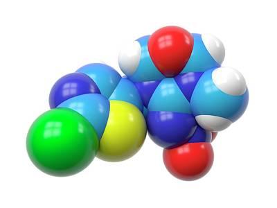 Molecular Model Photograph - Thiamethoxam Molecule by Indigo Molecular Images