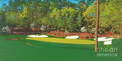 Mixed Media - Thirteenth At Augusta by L J Oakes