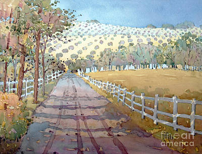 This Way To The Vineyard Print by Joyce Hicks