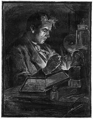 Edison Painting - Thomas Alva Edison (1847-1931) by Granger