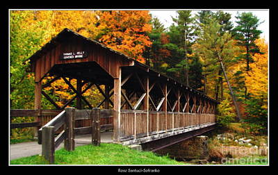 Foliage Photograph - Thomas L Kelley Covered Bridge by Rose Santuci-Sofranko