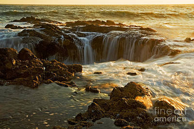 Thor's Well Art Print by Nick  Boren