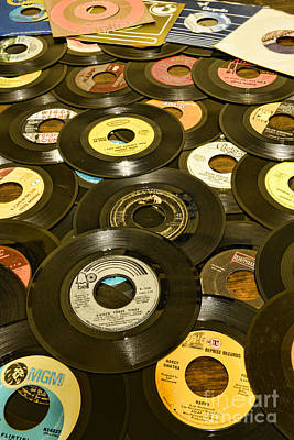 Jukebox Photograph - Those Old 45s by Paul Ward