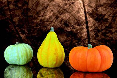 Three Small Pumpkins  Original