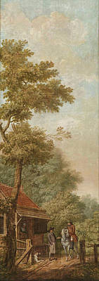 Wall Hanging Drawing - Three Wall Hangings With A Dutch Landscape by Litz Collection