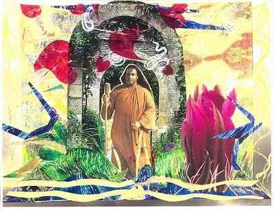 Yogananda Mixed Media - Through The Heart by Jamuna Snitkin