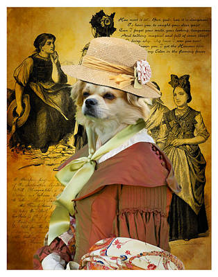 Firefighter Patents Royalty Free Images - Tibetan Spaniel Art Canvas Print Royalty-Free Image by Sandra Sij