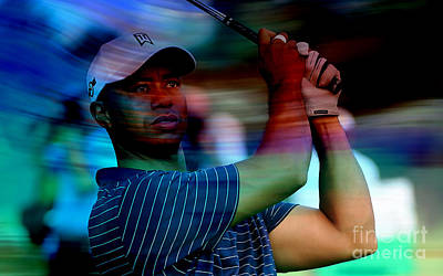 Tiger Woods Art Print