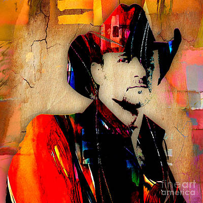 Country Music Mixed Media - Tim Mcgraw Collection by Marvin Blaine