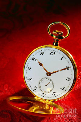 Photograph - Antique Pocket Watch by Olivier Le Queinec