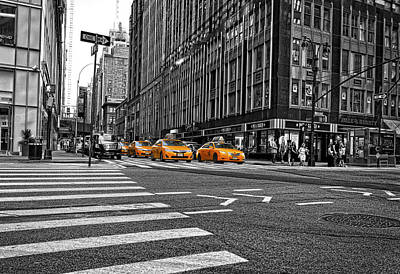 Photograph - Time Square by Peter Lakomy