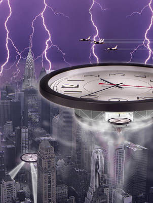 Surrealism Royalty-Free and Rights-Managed Images - Time Travelers 2 by Mike McGlothlen