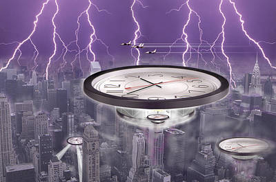 Surrealism Royalty-Free and Rights-Managed Images - Time Travelers by Mike McGlothlen