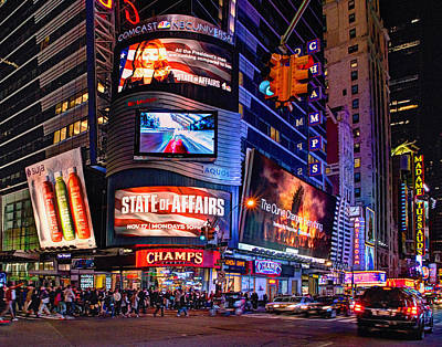 Photograph - Times Square 1501 by Jeff Stallard