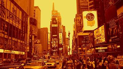 Photograph - 42nd Street And Times Square Manhattan by Monique's Fine Art