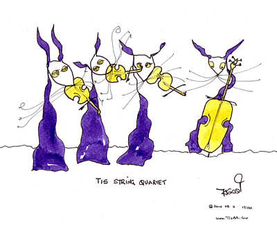 Painting - Tis String Quartet by Tis Art