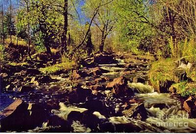 Tischer Creek Autumn Art Print by Rory Cubel