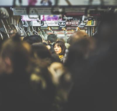 Photograph - Tokyo Japan Train Woman by Cory Dewald