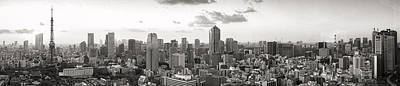 Photograph - Tokyo Tower Panorama by For Ninety One Days