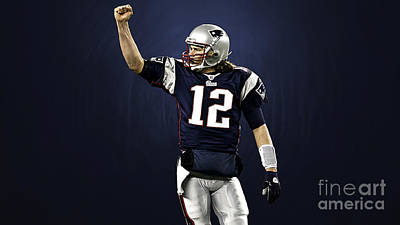 Sports Mixed Media - Tom Brady by Marvin Blaine