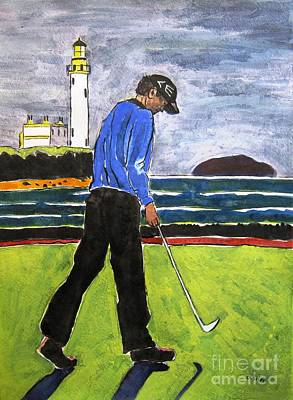 Tom Watson Turnberry 2009 Art Print by Lesley Giles
