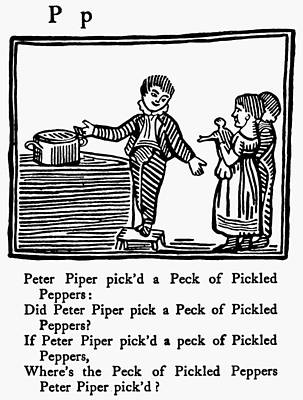 Pecking Drawing - Tongue Twister, 1830 by Granger