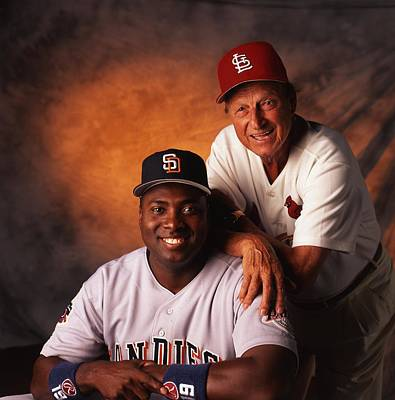 Tony Photograph - Tony Gwynn And Stan Musial by Retro Images Archive