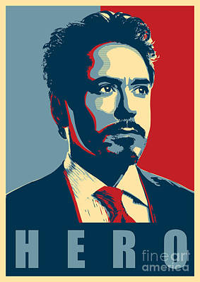 War Hero Digital Art - Tony Stark by Caio Caldas