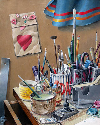 Art Print featuring the painting Tools Of The Trade by Bob  George