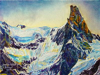 Chamonix Painting - tooth of Giant by Danielle Arnal