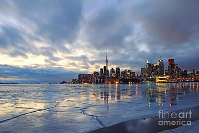 Photograph - Toronto Winter Evening by Charline Xia