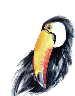 Toucan Painting - Toucan by Sophia Rodionov