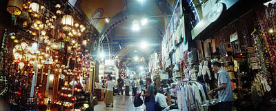 Bazaar Photograph - Tourists In A Market, Grand Bazaar by Panoramic Images