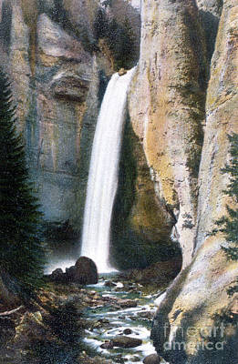 Photograph - Tower Falls Yellowstone National Park by NPS Photo Frank J Haynes
