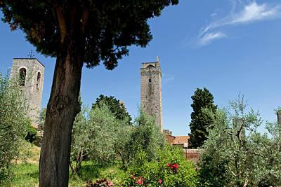 Towers Of San Gimignano, Unesco World Art Print by Nico Tondini