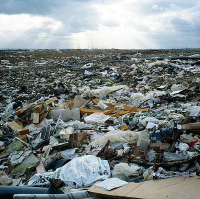 Toxic Waste Dump Art Print by Robert Brook/science Photo Library