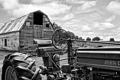 Tractor Barn Art Print