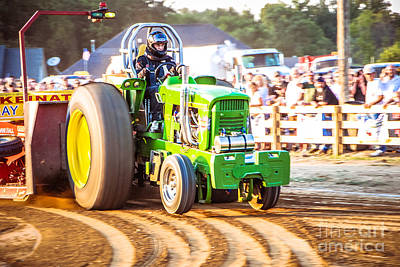 Abstract Shapes Janice Austin Royalty Free Images - Tractor Pull Royalty-Free Image by Grace Grogan