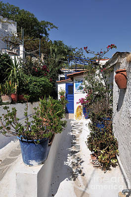 Flowerpot Photograph - Old Houses In Plaka by George Atsametakis