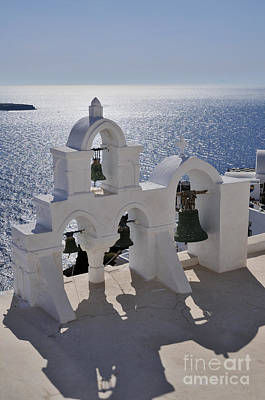 Summer Photograph - Traditional Belfry In Oia Town by George Atsametakis