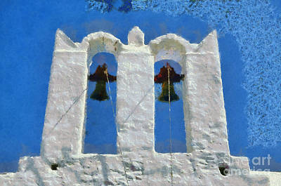 Painting - Traditional Belfry In Sifnos Island by George Atsametakis