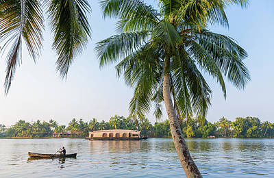 Kerala Photograph - Traditional Houseboat, Kerala by Peter Adams