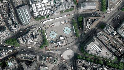 Charing Cross Photograph - Trafalgar Square by Getmapping Plc