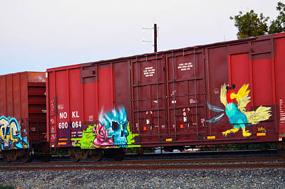 Photograph - Train Graffiti  by Brent Dolliver