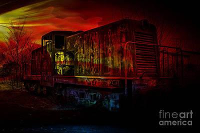 Mixed Media - Train by Marvin Blaine